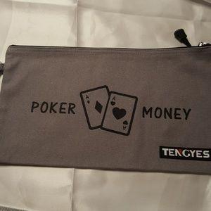 Poker money bank bag new